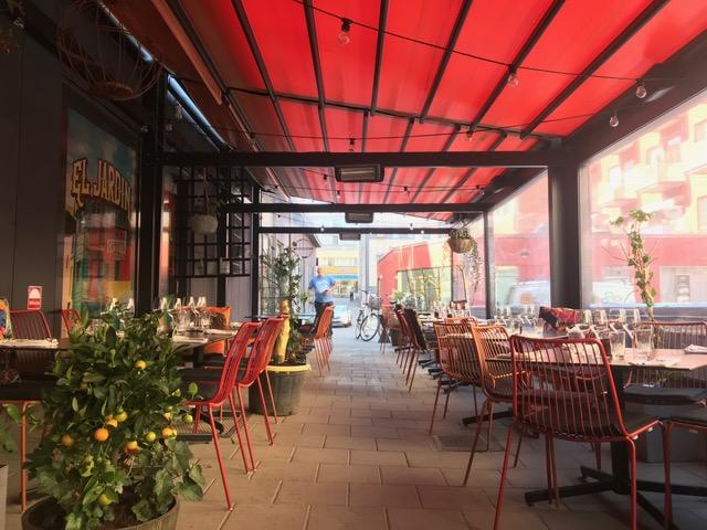 Pergolamarkis till Restaurang La Parilla i Uppsala