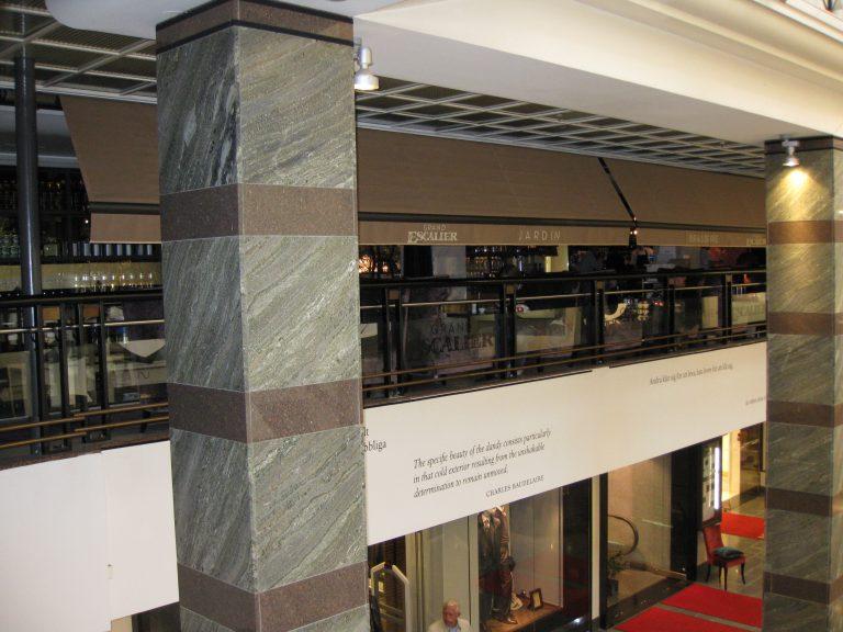 Terrassmarkiser till Restaurang Grand Escalier i Stockholm