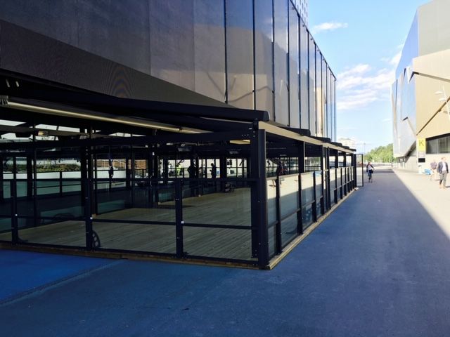 Pergolamarkiser, Friends Arena, Solna